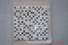 "POLISHED  marble 5/8"" X 5/8 "" CREMA MARFIL multi color mosaic tile"