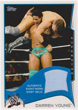 2014 TOPPS WWE DARREN YOUNG AUTHENTIC SHIRT RELIC