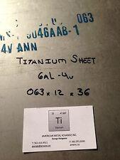 """TITANIUM SHEET 6AL-4V .063"""" X 24"""" X 36"""""""