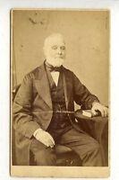 (Li357-100)Victorian Real Photo CDV,Seated Gentleman, G-VG, Bottomley, Bradford
