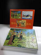 Rare Puzzle Tintin 1977 Eldorado TBE