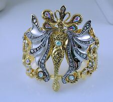 Kirks Folly Lumina Serpent Fairy Metallic Cuff Bracelet - Two Tone