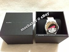 RARE NWB MARC By MARC JACOBS Miss Marc Cat Mouse Hands White Acrylic Chain Watch