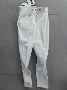 Cavallo Kinder/Jugend Reithose Weiß Turnierreithose Kniebesatz Gr. 140