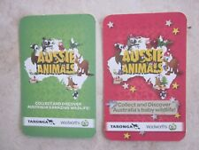 Woolworths Green & Red Aussie Animals  **  PICK A CARD **  10 for $1.00