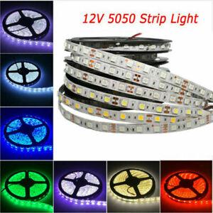 5M SMD 5050 RGB white Waterproof 60 LED/m Flexible  Strip Light DC 12V