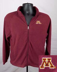 Minnesota Golden Gophers Jacket Boy's Small (6 - 7) Red Zip-Up Fleece New ST123