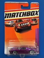2010 Matchbox PURPLE & SILVER 2005 FORD GT RACING SPORTS COUPE mint on card!