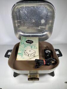 Sunbeam Electric Nonstick Multi Cooker Frypan Skillet Model T61B Manual Cord Pan