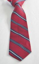 BROOKS BROTHERS Red Striped 100% Silk 58 Inches Long Men's Necktie