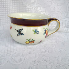 STUNNING! Large T Limoges Peint a La Main Soup Bowl/Mug with Garden Design (398)