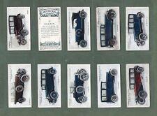 Cigarette cards set Motor cars Bentley, Bugatti, Buick,Austin,Humber, etc