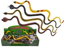 1 x Kunstsoff Schlange Gummi Schlange Mitbringsel Kindergeburtstag ca. 40 cm
