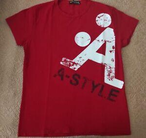 T Shirt A-Style Rossa Uomo Taglia XL