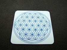 Untersetzer Blume des Lebens 8 cm Energiekarte Lebensblume Weiß/Blau