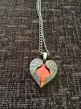 Vintage Love Heart And Angel Wings Fashion Necklace