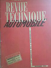 revue technique automobile n79 nov 1952  mercedes 170 d da     hydramatic