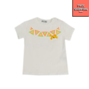 PAESAGGINO BABY T-Shirt Top Size 3M Embellished Triangles Made in Italy
