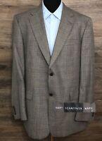 Hart Schaffner Marx Mens Gray Glen-Check Wool 2-BTN Blazer Sport Coat Jacket 44L