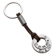 Schlüsselanhänger Edelstahl mit Gravur