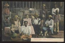 Postcard COLON PANAMA  Public Food Market Street Vendors 1907