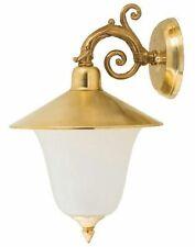 Outdoor Wall Light Brass Rustic Elegant IP23 E14 Lamp Antique Hof Front Door