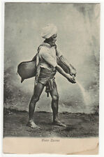Water Carrier India 1910c postcard
