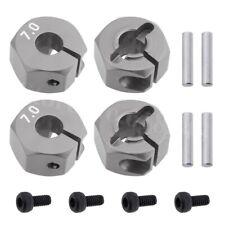 RC Silver Aluminum 7.0 Wheel Hex 12mm Drive, Pins & Screws 4P HSP HPI Tamiya Car