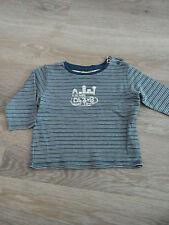 Baby Kinder Junge Mädchen Langarm-Shirt Longshirt S.Oliver Gr. 68, blau gesteift