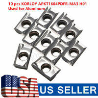 10PCS/Box APKT1604PDFR-MA3 H01 Carbide Insert Blade For Alloy Aluminum Copper