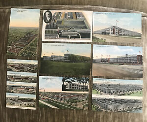 Detroit Cadillac Ford Hudson Chalmers Studebaker Packard Continental postcards