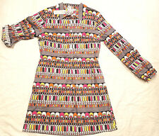 NEW WD NY Dress Multi Color Adjustable Sleeves Long Top Blouse Button Women Sale