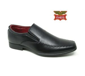 MENS BLACK LEATHER LINED FORMAL DRESS SMART WORK SCHOOL CASUAL SHOES SIZE