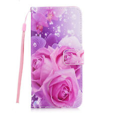 Flip Stand PU Leather Case Cover with Card Slots Lanyard For Apple iPhone 6 Plus
