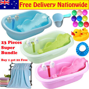 Extra Large Baby Infant Toddler Child kids Bath tub w/ Support Seat Thermometer