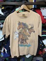 Vintage Mens XL Tshirt  PA Horse 90s Ohiopyle State Park Pennsylvania *repair*