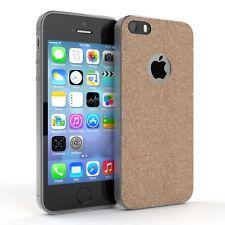 Schutz Hülle für Apple iPhone SE / 5 / 5S Glitzer Cover Handy Case Champagner