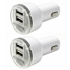 2x UNIVERSAL 2-Port USB Car Charger Cigarette Lighter Adapter For iPhone Samsung