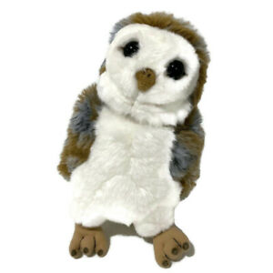 """Cabin Critters Owl Bird Plush 11"""" Realistic Gray Brown White Face Display Toy"""
