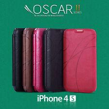 OSCAR  Flip Case Cover For iPhone 4 4S 4th Gen + Screen Guard