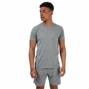 Men's Lyle And Scott Kirk Loungewear Short Sleeve T-Shirt & Short Set in Grey