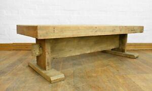 Long light oak rustic coffee table