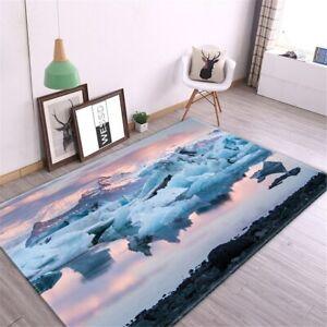 Landscape Carpet Living Room Rug Flannel Sponge Bedside Floor Mat Children Room
