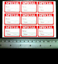 500pc Special Redwhite For Christmas Sale Retail Price Stickers Tags Labels