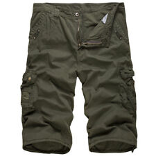 Casual Mens Summer Army Combat Camo Work Shorts Pants 3/4 Trousers Bottoms US