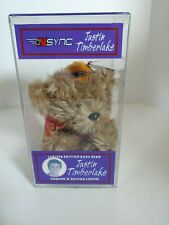 Vintage Justin Timberlake N'Sync Limited Edition Rare Bear 21994 of 35000 w Case