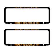 Bundy Bundaberg Rum Car Licence Number Plate Frames Holder Man Cave Bar Gift