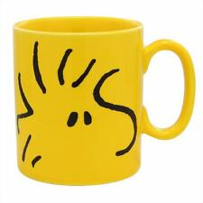 Golden pottery  500ml BIG MUG cup peanut woodstock face yellow made in Japan