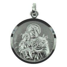 Heiliger Antonius mit Jesus Kind Anhänger mit Namen Gravur mit Kette Silber 925
