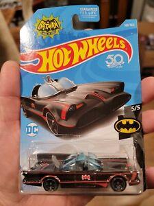 Hot Wheels 50 Batman Classic TV Series Batmobile #307 5/5 BLACK (Lot of 2)